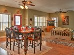 Gather in the open living and kitchen area as you spend quality time together with loved ones!