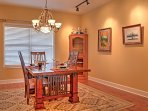 Celebrate special occasions in the formal dining room.