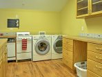 Complete with a kitchenette and laundry machines, guests will love having their own space!