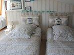 Lits rapprochés en lit double ou séparés en lits jumeaux au choix