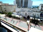balcon sur a la zona peatonal