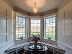 view from bay window in drawing-room