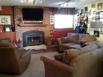 Sit and relax in front of the fireplace if you like.  Local TV channels and Netflix