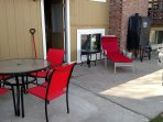 Back Patio to sit and enjoy your dinner if you would like