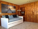 Sitting Room with two Daybeds w/trundles. Sleeps 4