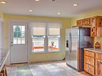 You'll love having access to the side patio from the kitchen!