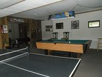 Game room included in your rental
