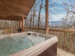 Hot tub for 4 on balcony with great views