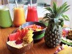 We provide fresh juice each morning