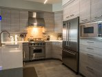 Updated kitchen w viking range and stainless appliances