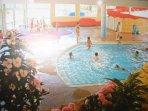 Inside Pool with Slide