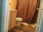 Hallway restroom