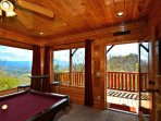 Time for a game of pool, or maybe head out to the hottub on the balcony