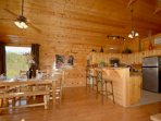 The Cabin Sleeps 4, but maybe you have friends or family nearby, enough seating for 6 at Dining Table plus 2 at the...