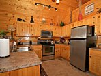Well-equipped kitchen and plenty of work space to help prepare those meals in.