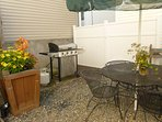 Outdoor courtyard with new BBQ grill