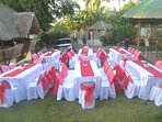 Party for 60 persons in the garden
