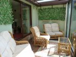 Comfortable seating in Conservatory