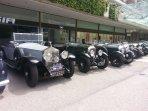 Exposition véhicule d'autrefois lors du grand prix historique de Monaco