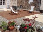 terrasse privée du studio 'le tilleul'