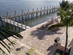 Fishing Dock behind Yacht Club with lounging/gaming areas