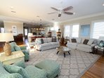 Spacious Living Room with Ample Seating Choices