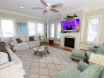 Living Room Has Gas Log Fireplace