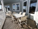 Outdoor Dining on the Third Story Balcony