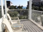 Third Floor Porch Chairs and Side Gulf Views
