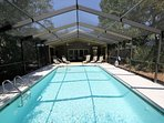 Large Screened In Pool - Gets Sunny Too