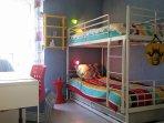 Chambre 3, avec lits superposés