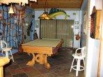 Playroom w/Pool table and wet Tiki Bar