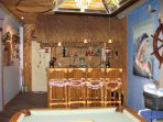 Tiki Wet Bar in Playroom