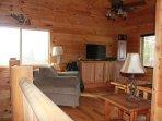 Loft living area with futon