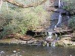 Waterfall on Deep Creek trail.