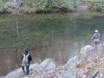 Trout fishing at Deep Creek.