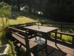 Deck & outdoor dining area Solar lights show path up to parking area Large garden for your enjoyment