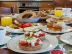 Cretan breakfast served every day included in the price.