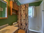 After a day of hiking the hills, rinse off in this pristine shower.