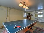 Challenge your guests to a friendly game of ping pong.