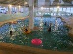 Indoor Olympic size swimming pool,( heated seasonally)
