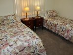Second bedroom with quality beds