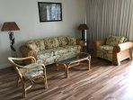 Queen sofa bed with matching table and chairs