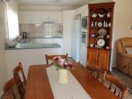 Fully equipped kitchen,cooktop oven microwave and dishwasher.