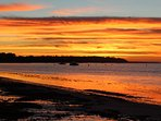 Sunrise on Balnarring Beach. Easy walk from cottage.
