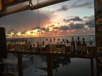 Sunset, Keys Fisheries Bar/Restaurant/Fish Market. One of scores of great restaurants in Marathon
