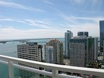 Amazing view of the bay and the city from the balcony!