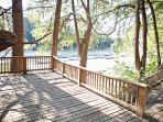 Deck access for the Guadalupe River