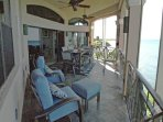 Private Balcony Deck - relax, dine outdoors, enjoy the ambiance & water view
