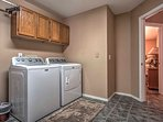 Keep clothes clean with in-unit laundry machines.